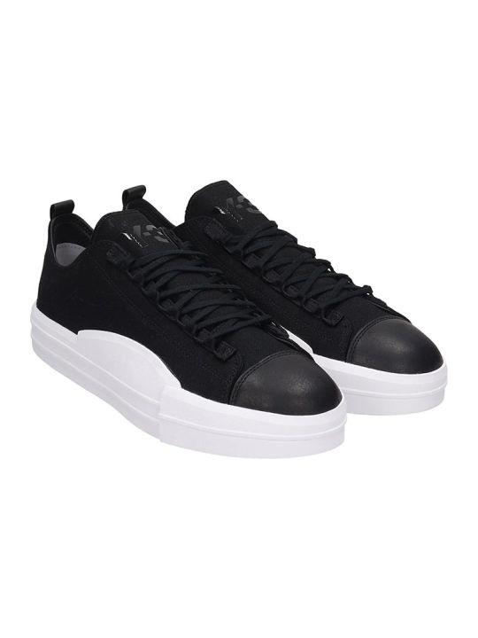 Y-3 Yuben Low Sneakers In Black Canvas
