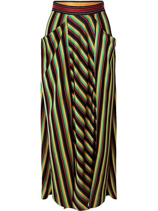 3.1 Phillip Lim Striped Satin Maxi Skirt