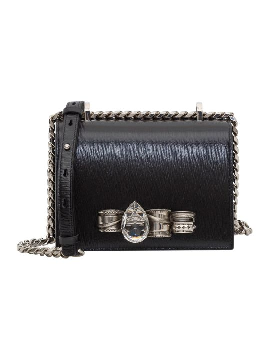 Alexander McQueen Small Mechanical Jewelled Sartchel