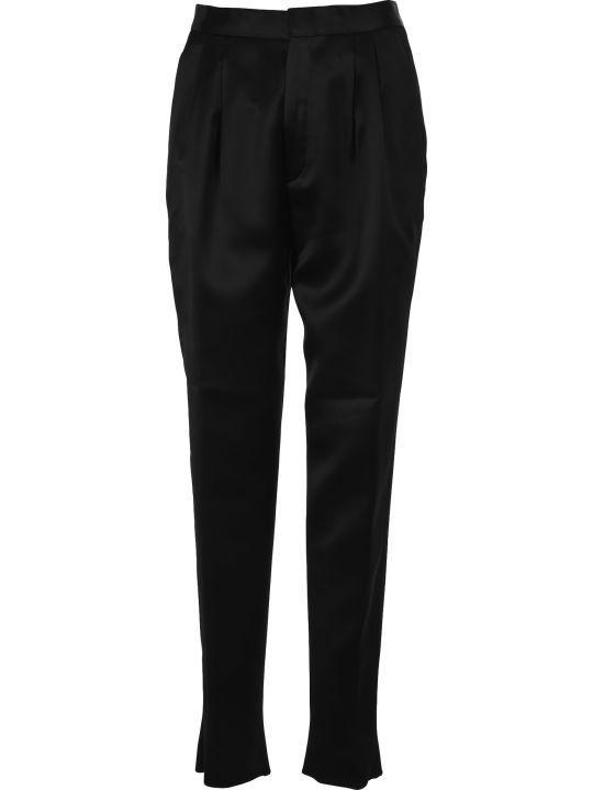 Saint Laurent High-waist Pleated Trousers