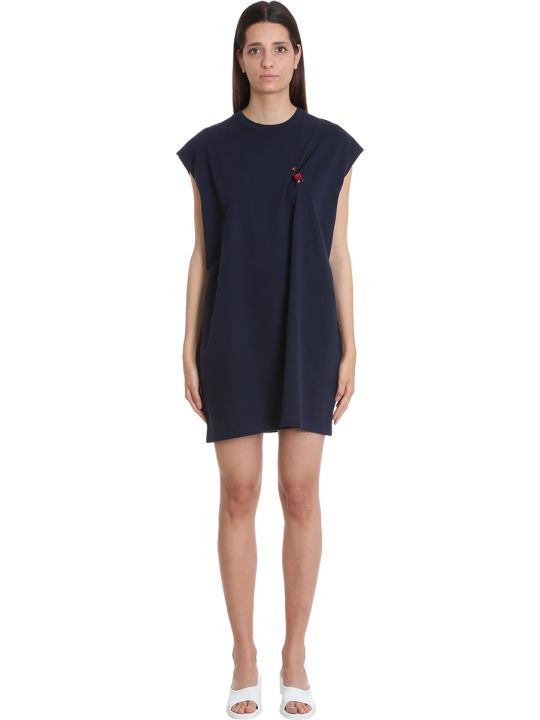 Acne Studios Ering Ring Dress In Blue Cotton