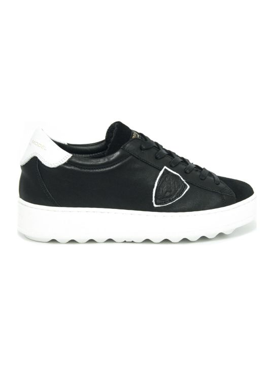 Philippe Model Black Leather Madeleine Sneaker