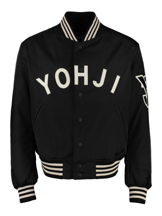 Y-3 Embroidered Nylon Bomber Jacket