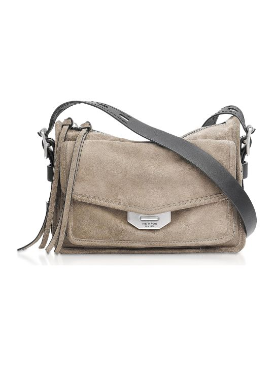 Rag & Bone Warm Grey Suede Small Field Messenger Bag