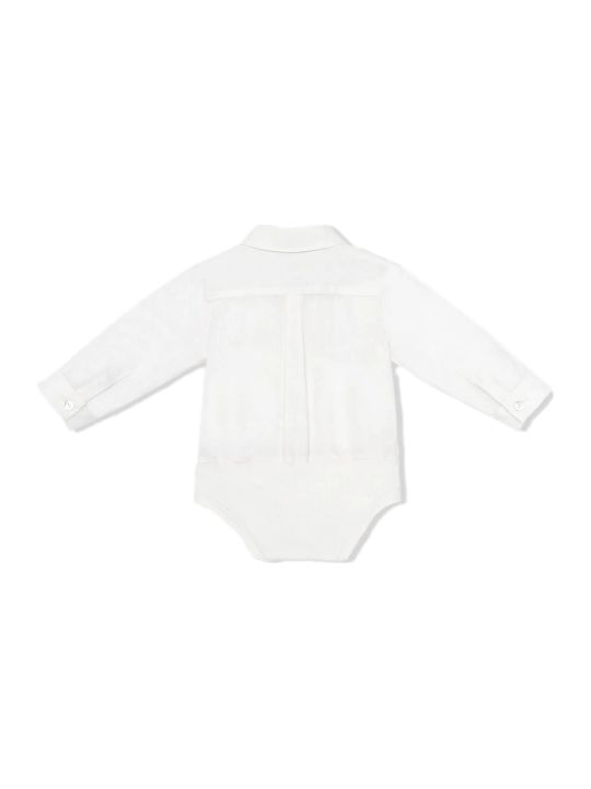 Fendi White Cotton Shirt Bodysuit
