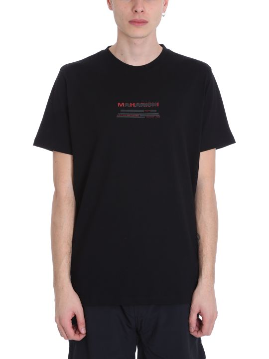Maharishi Black Cotton T-shirt