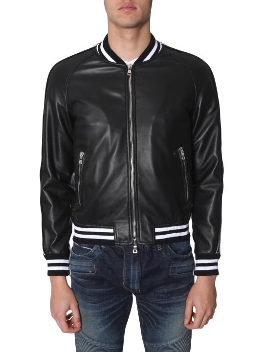 Balmain Leather Bomber