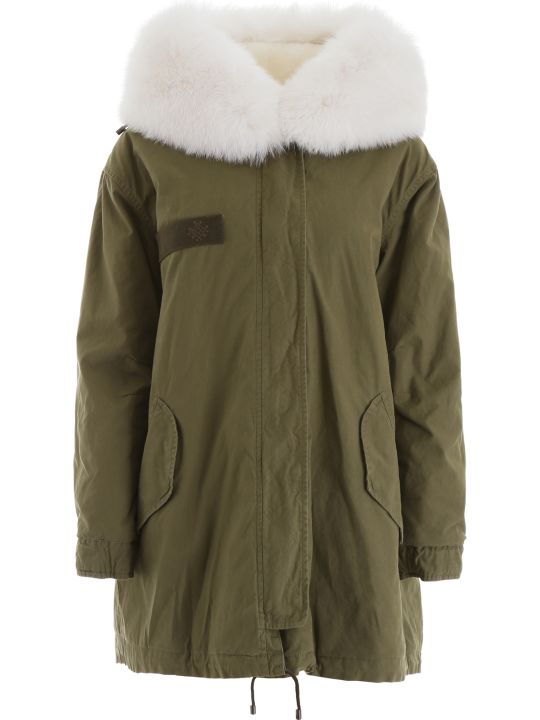 Mr & Mrs Italy Fur And Shearling Parka