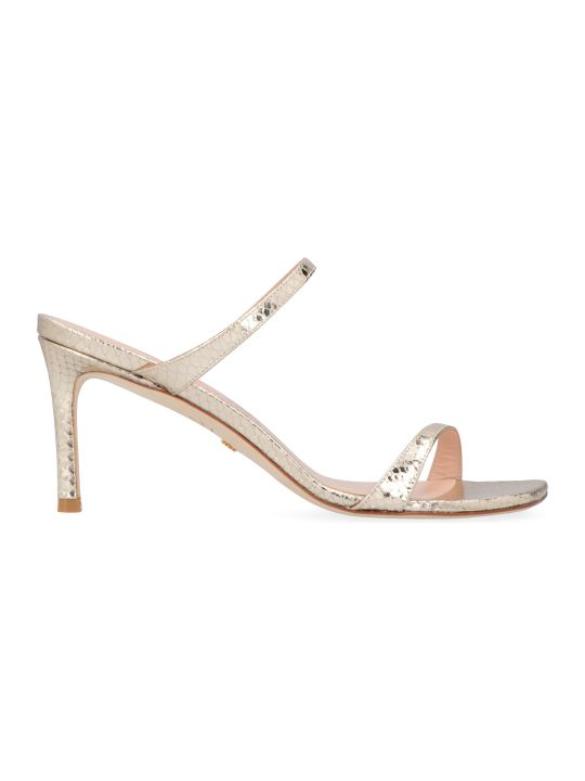 Stuart Weitzman Aleena Metallic Leather Sandals