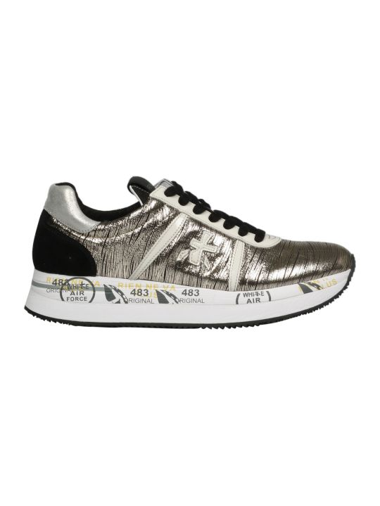 Premiata Conny Printed Leather Sneakers