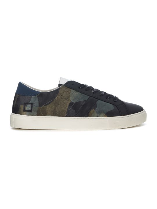 D.A.T.E. Newman Camo Army Rubber Covered Leather Sneaker