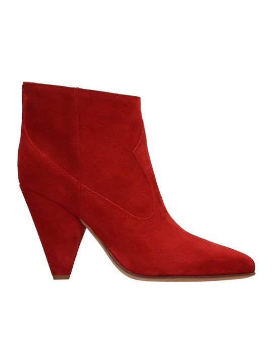 Buttero Red Suede Ankle Boots