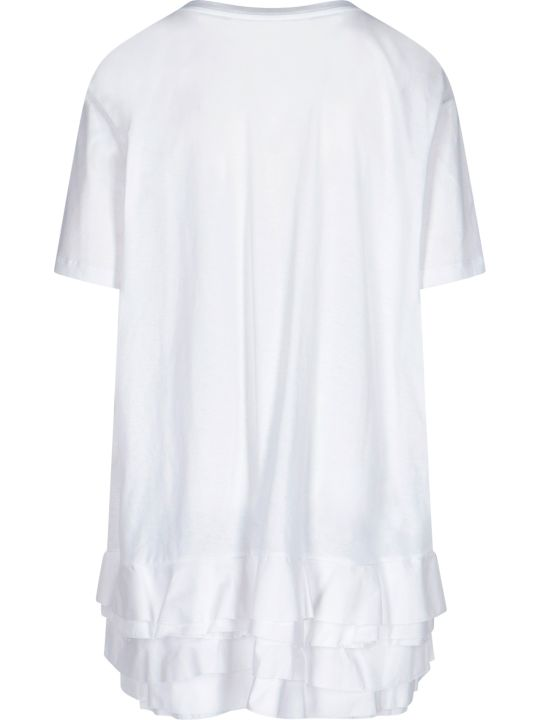 Alexander McQueen Flounced Bottom Oversized T-shirt
