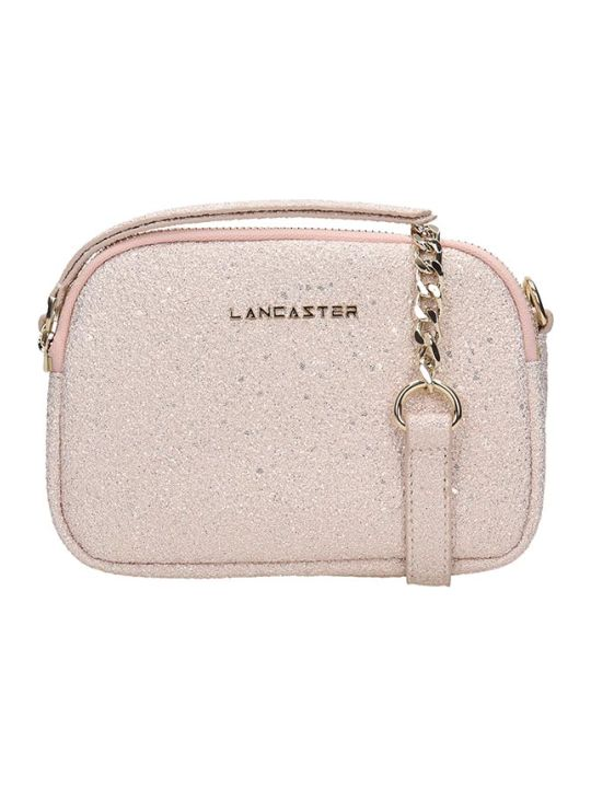 Lancaster Paris Pink Glitter Mini Crossbody Bag