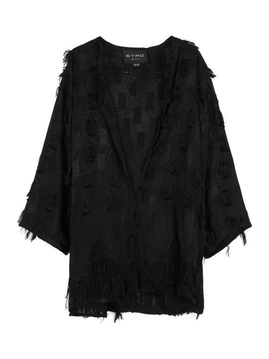 Etro Fringed Kimono Jacket