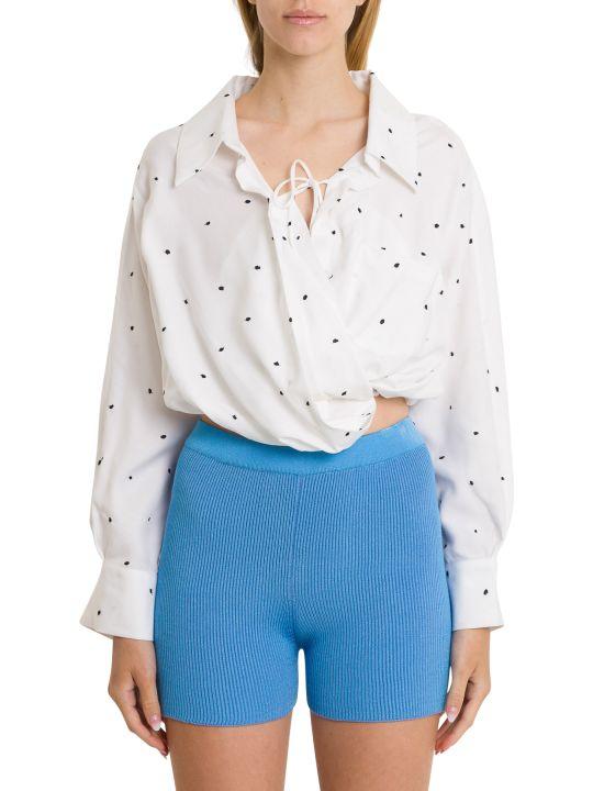 Jacquemus Polka Dots Embroidery Shirt