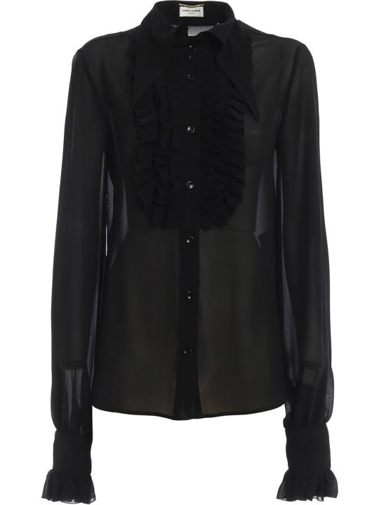 Saint Laurent Frill Detail Top