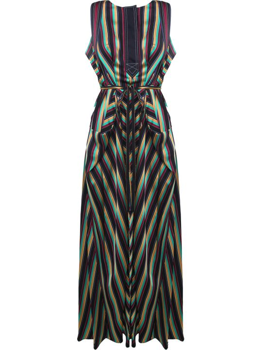 3.1 Phillip Lim Striped Satin Maxi Dress