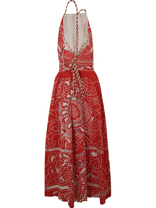 RED Valentino Printed Sleeveless Long Dress