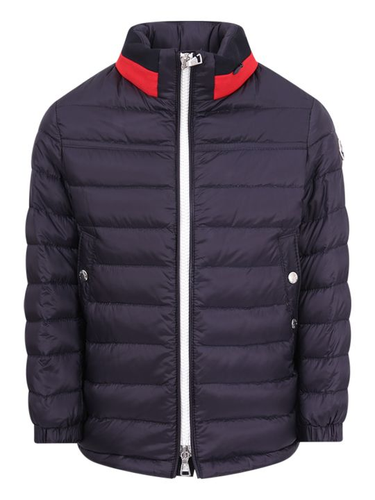 """Moncler Blue Boy """"lot"""" Quilted Jacket"""