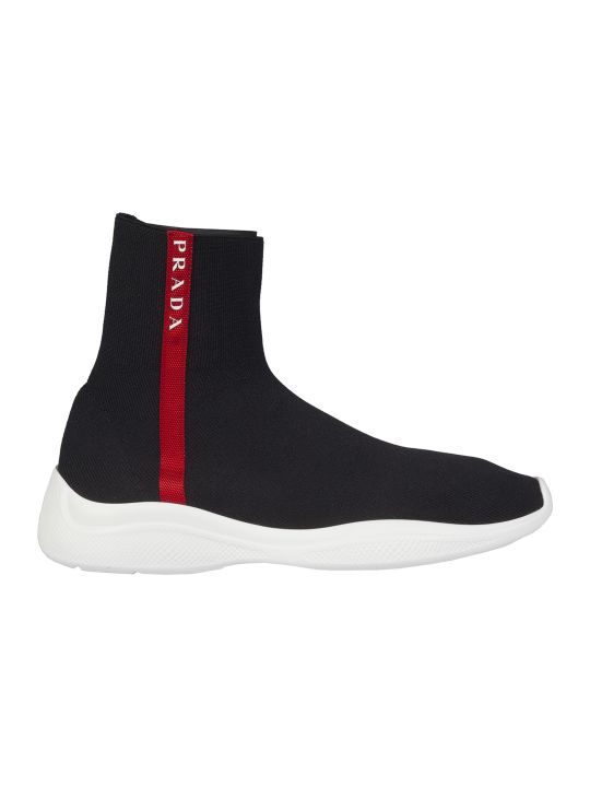 Prada Linea Rossa Sock Hi-top Sneakers