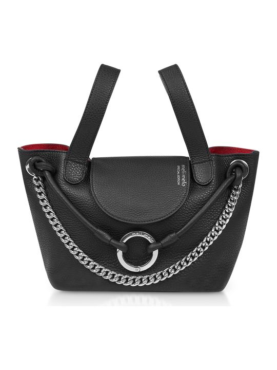 Meli Melo Black Linked Thela Mini Bag