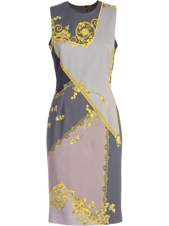 Versace Collection Fitted Printed Dress