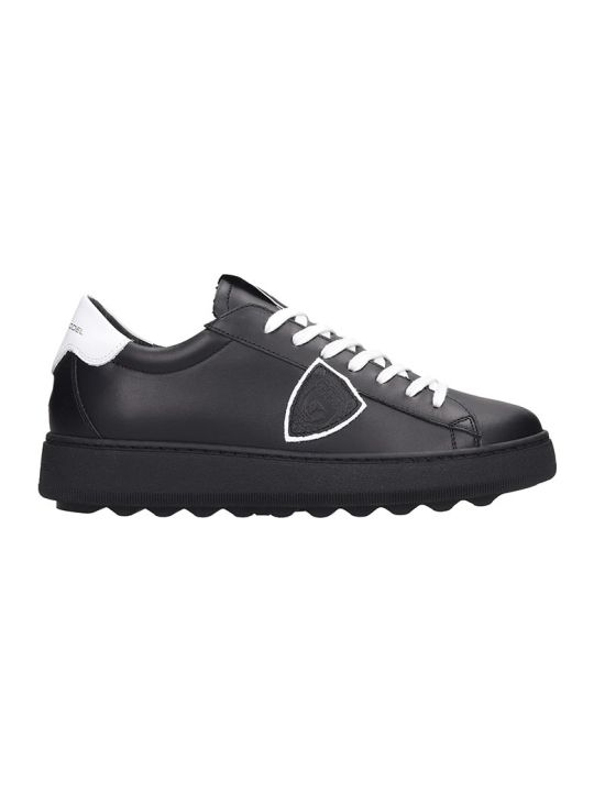 Philippe Model Madeleine Sneakers In Black Leather