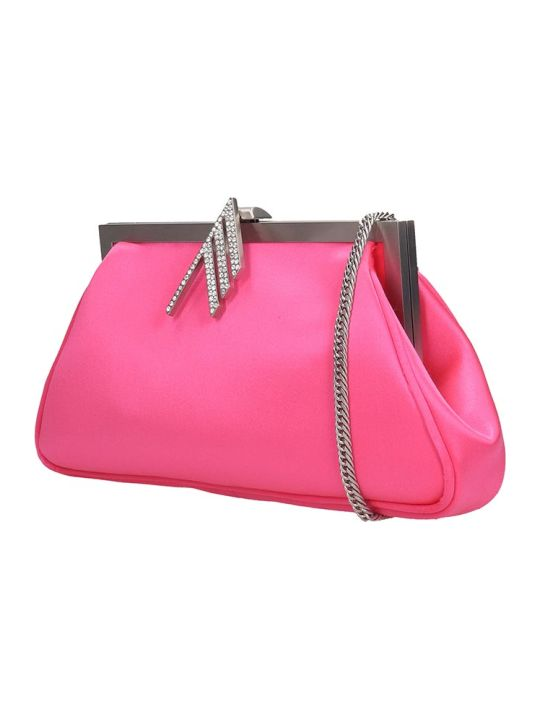 The Attico Alma Shoulder Bag In Fuxia Tech/synthetic