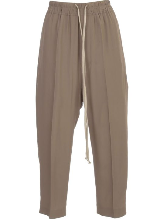 Rick Owens Drawstring Cropped Astaires Pants Crepe