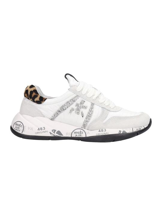 Premiata Layala  Sneakers In White Tech/synthetic
