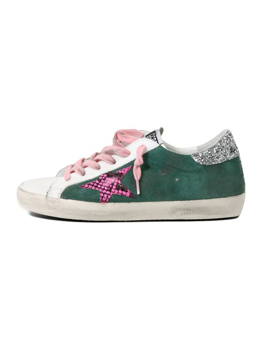Golden Goose Superstar Sneakers Green