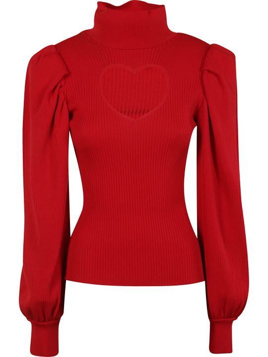 MSGM Heart Cut-out Sweater