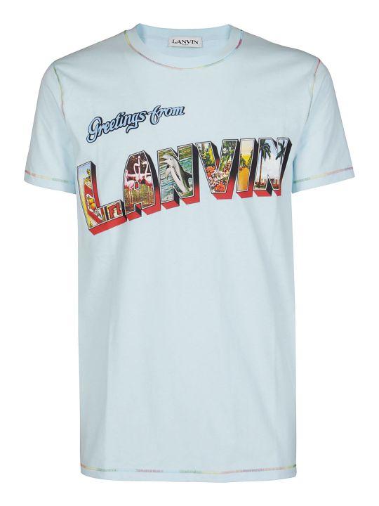 Lanvin Light Blue Cotton T-shirt