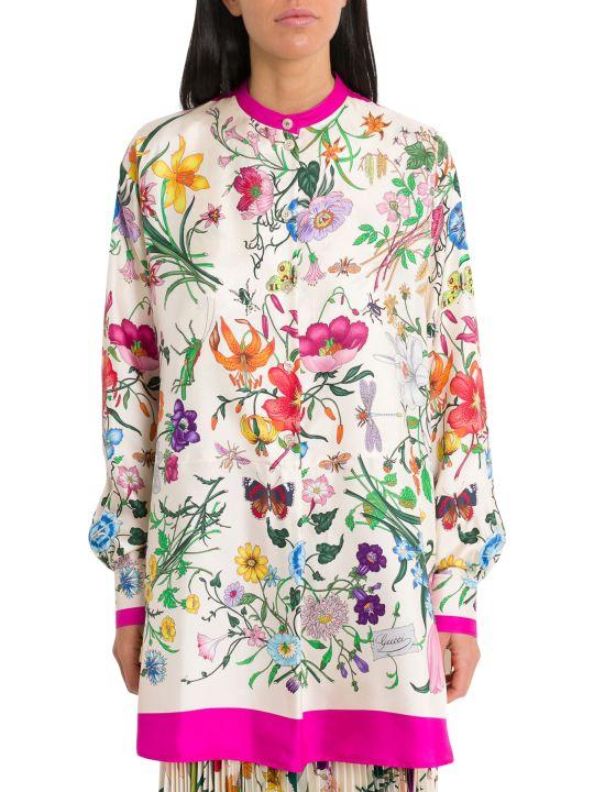 Gucci Oversize Shirt With Flora Print