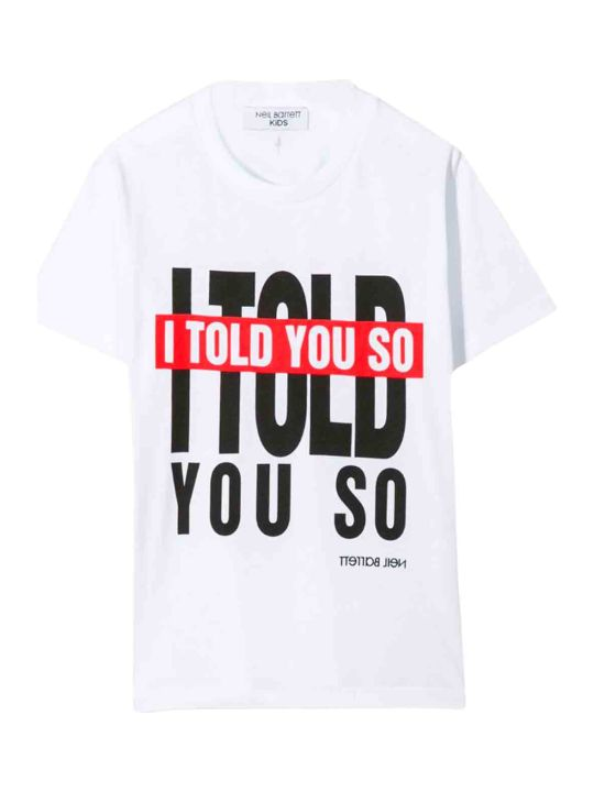 Neil Barrett White Teen T-shirt