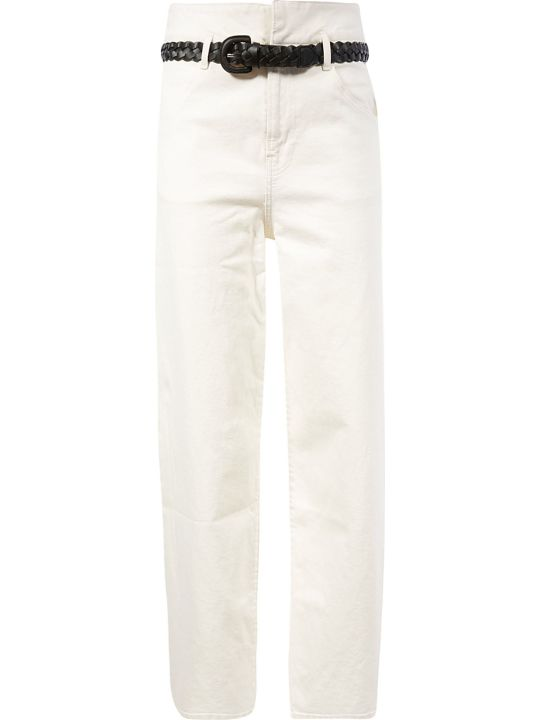 Les Coyotes De Paris Belted Straight Jeans