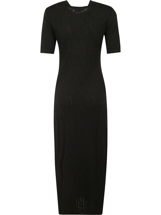 Fendi Short-sleeve Long Dress