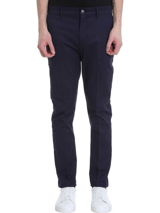 Calvin Klein Jeans Blue Cotton Pants