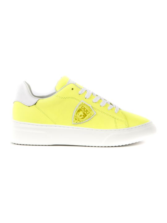 Philippe Model Temple Yellow Nubuck Leather Sneakers