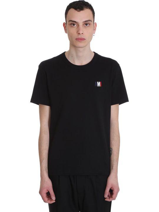 Ami Alexandre Mattiussi T-shirt In Black Cotton