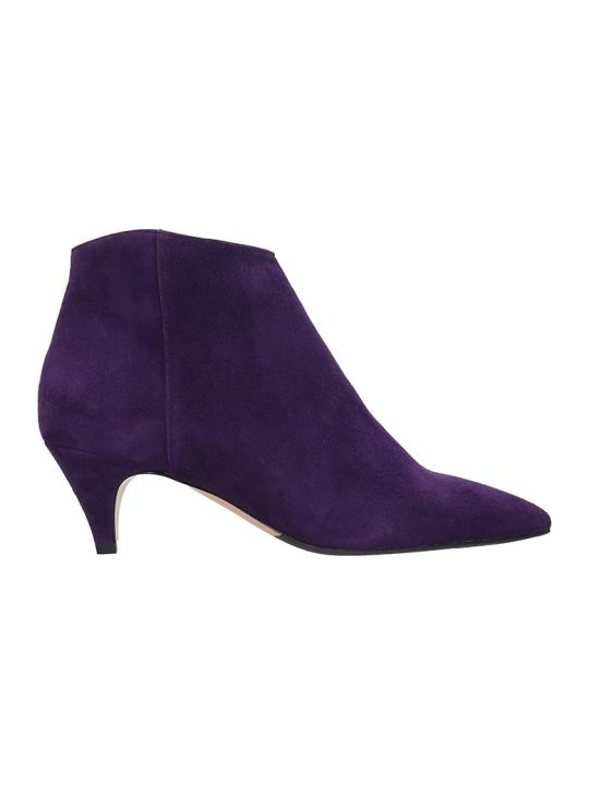 The Seller Ankle Boots In Viola Suede