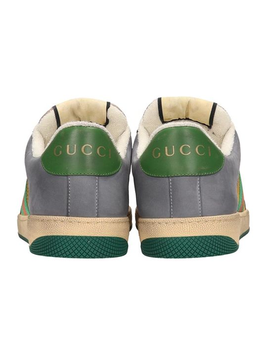 477c22647 Gucci Gucci Screener Grey And Yellow Leather And Suede Sneakers - yellow -  10978105 | italist
