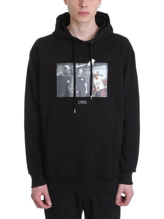 Throw Back Michael Black Cotton Hoodie