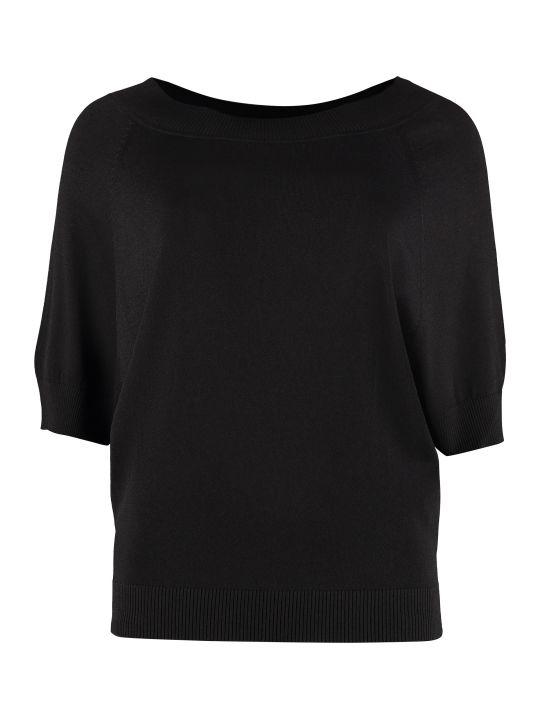 Parosh Knitted Viscosa-blend Top