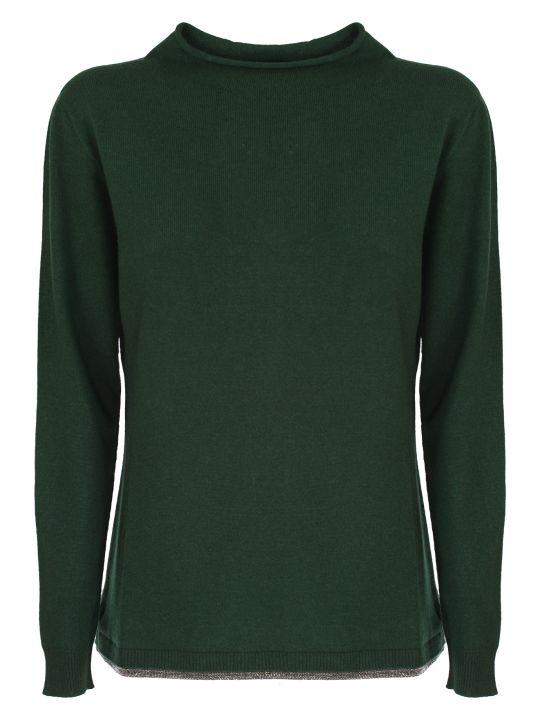 Fabiana Filippi green wool and cashmere sweater
