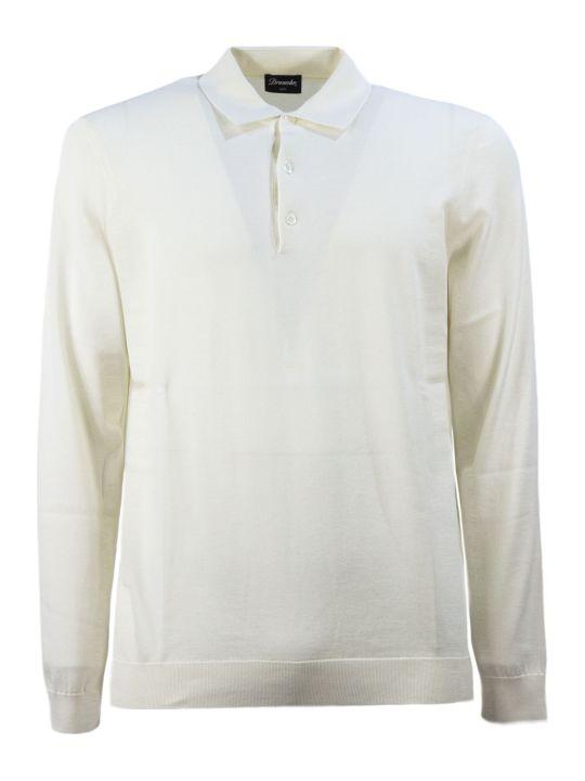 Drumohr Cream Cotton Polo Shirt