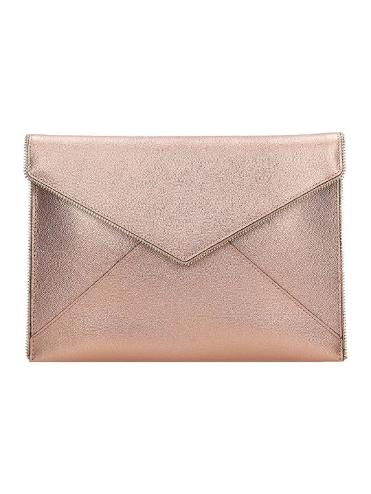 Rebecca Minkoff Leo Clutch In Rose-pink Leather