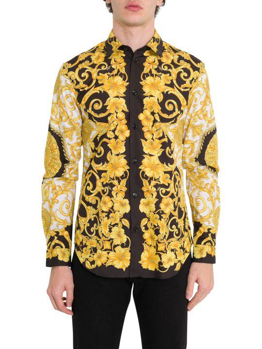 Versace Gold Hibiscus Shirt