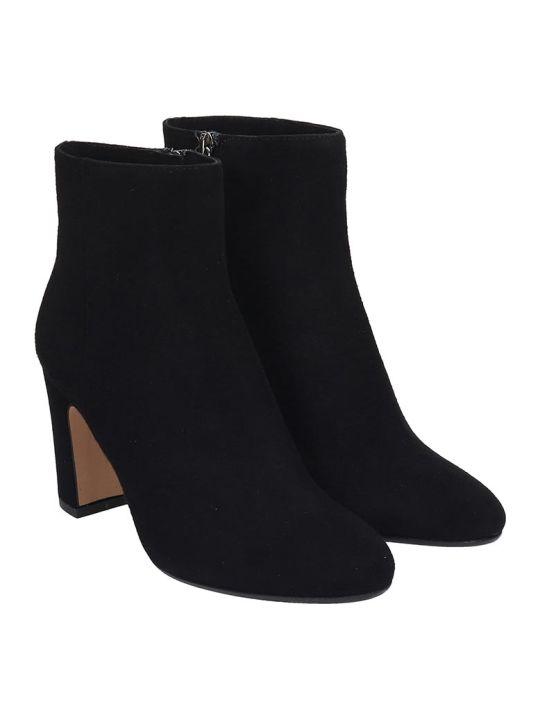 Julie Dee High Heels Ankle Boots In Black Suede